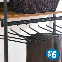 HW5187-Black  Clothes Hanger (6 Pcs 포함)