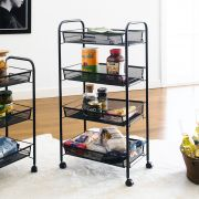 LD01-628-Black  4-Tier Mesh Cart