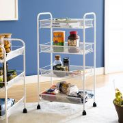 LD01-628-White  4-Tier Mesh Cart