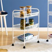LD01-748-White  3-Tier Mesh Cart