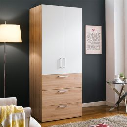 WD-200C-WO  Single Closet w/ 3-Drawer