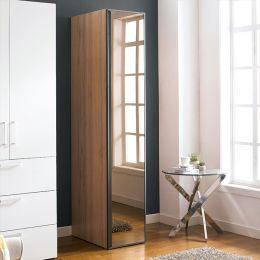 WD-1000-BLK-M  Single Closet w/ Mirror Door