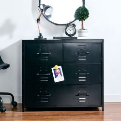 LLC-073-Black  Metal Cabinet