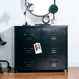 LLC-073A-Black  Metal Cabinet