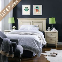 Heidi-SS-HB  Single Panel Bed
