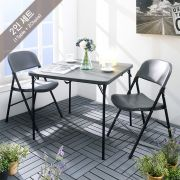 (0) LF-86Z-YCD-50-2-Grey  Table Set  (3 Pcs)