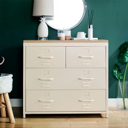(0) LLC-073-White  Metal Cabinet