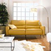 B5049-Mus-Gry  Leather Sofa
