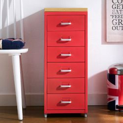 (0) LLC-Z6B-Red  Metal Cabinet