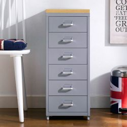 (0) LLC-Z6B-Gray  Metal Cabinet
