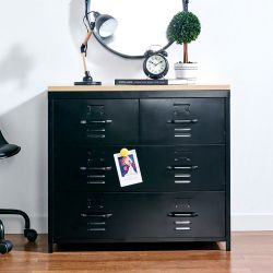 (0) LLC-073-Black  Metal Cabinet