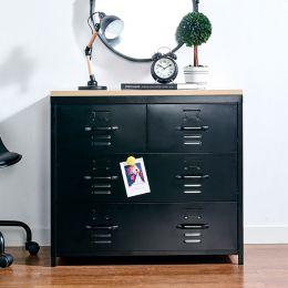 (0) LLC-073A-Black  Metal Cabinet