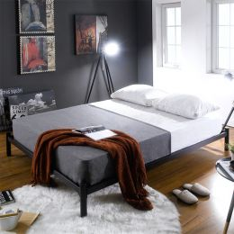 H9441-Black-1500  Queen Metal Bed
