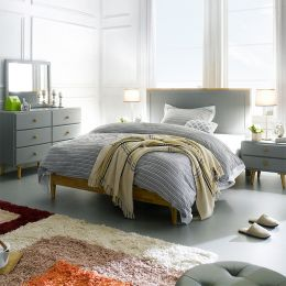 Rora-SS-Grey  Super Single Panel Bed