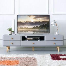 (0)Rora-TV-Grey  Large TV Stand