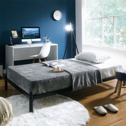 H9441-Black-1100  Super Single Metal Bed