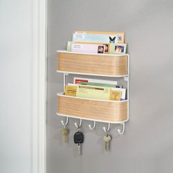 90310EJ  RealWood Wall Mount 2 Tier Mail Center