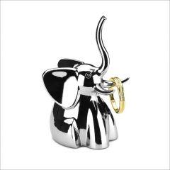 299224-158 Elephant-Chrome Ring Holder