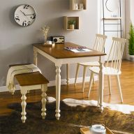 D3100-4-Julie  Dining Set  (1 Table + 2 Chairs + 1 Bench)
