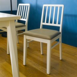 Miso-Ivory-C  Wooden Chair