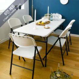 LF-180Z-YCD-50-6-White  Table Set (7 Pcs)
