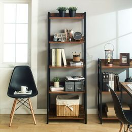 SLR-102-Black-Acacia Wall Unit