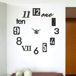 118430-040  Numbra Wall Clock-Black
