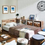Irvine-Vintage-SS  Super Single Panel Bed