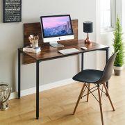 Staple-Black-Acacia  Metal Desk