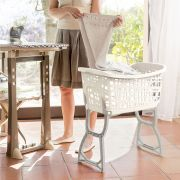 70165-White  Laundry Basket