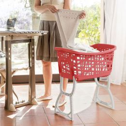 70165-Red  Laundry Basket