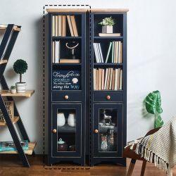 NB-Blue-SL-BC  Slim Bookcase