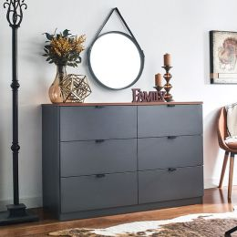 AD-60-Acacia-Grey 6-Drawer Chest