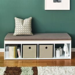 J4-Vintage-KK  Storage Bench w/  Cushion