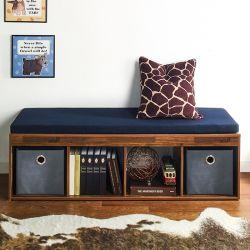 J4-Acacia-NV  Storage Bench w/  Cushion