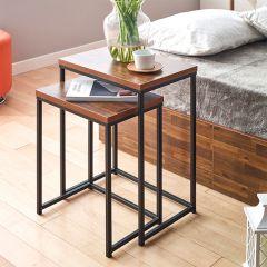Love-Black-Acacia  Side Table (2 Pcs 포함)