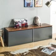 DRBH-1-Grey  Drawer Bench