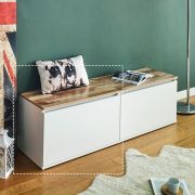 DRBH-1-White  Drawer Bench