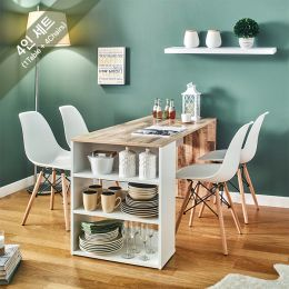 ART-4-Vintage-4BB-W Dining Set  (4인용)   (1 Table + 4 Chairs)