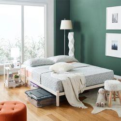 H9441-Ivory-1500  Queen Metal Bed