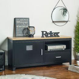 (0)LLC-48A-Black TV Stand