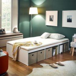 Newport-Vintage Super Single Storage Bed