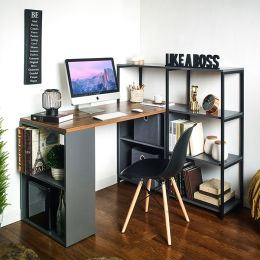 Rancho-Acacia-G Desk w/ Bookcase