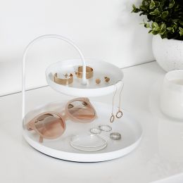 1009707-660 Poise Two Tiered Tray-White