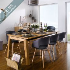 Detroit-8-Black-Cai Dining Set (8인용)