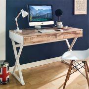 WX-1200-Vintage  Desk w/ 2-Drawer