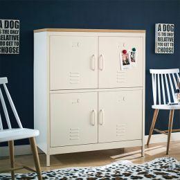 (0)LLC-112-White Metal Cabinet