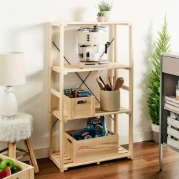 ZD-267 Wooden 4-Shelf