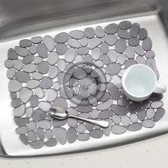 60663EJ Pebblz Sink Mat Lrg Graphite