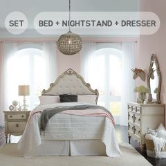 Giselle-QN Set  Queen Panel Bed